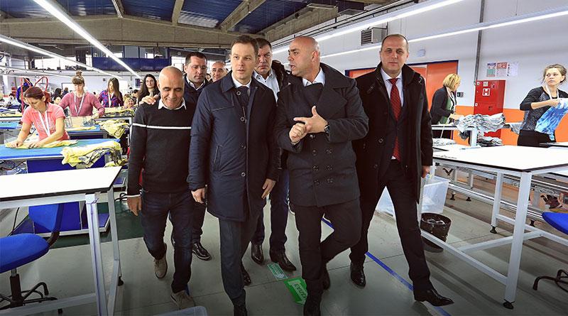 """Gradonačelnik posetio fabriku """"Birlešik tekstil"""""""