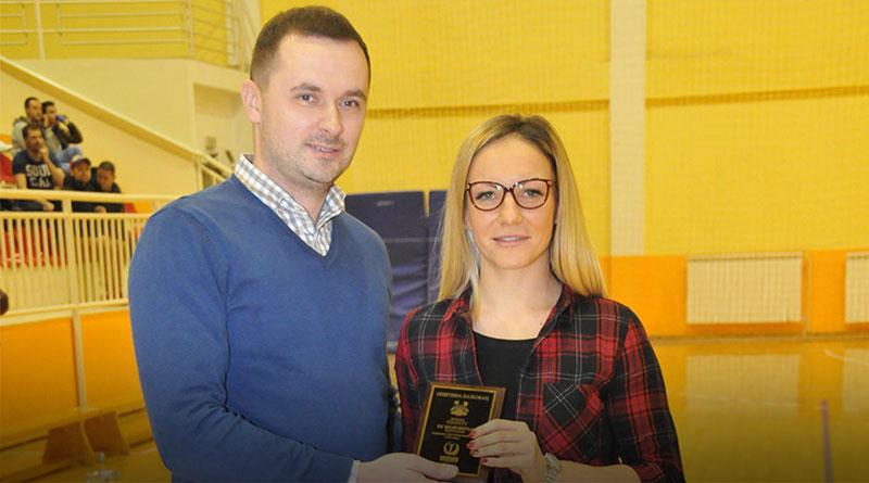 Nenad Džajević i Dragana Tomić, kapiten KK Železničar