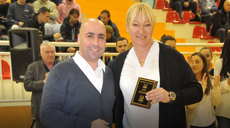 Andrija Živković i Svetlana Ilić, trener ŽOK Železničar