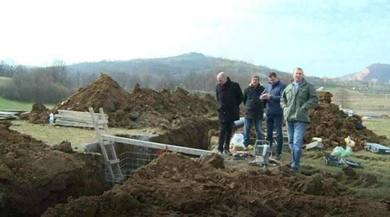 Izgradnja vodovodne mreže u Slovcu