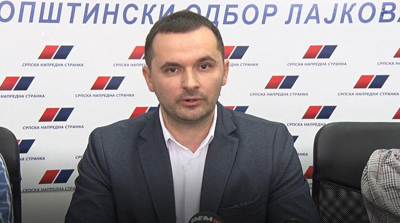 Nenad Džajević, poverenik opštinskog odbora SNS Lajkovac