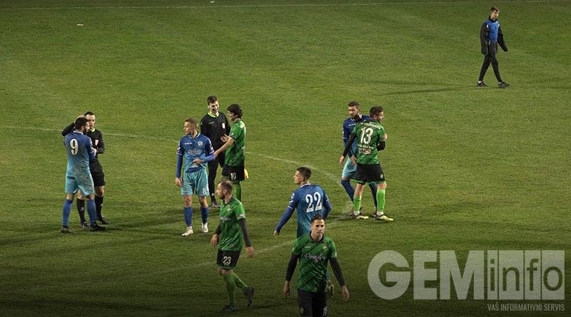 Kraj utakmice u Lazarevcu