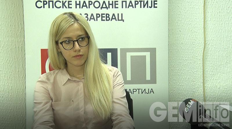 Tijana Ilić, portparolka OO SNP Lazarevac