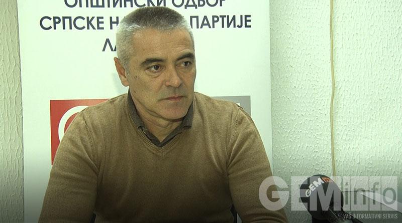Zoran Stoisavljević, predsednik OO SNP Lazarevac