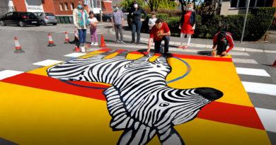 Akademski slikar iz Valjeva Miloje Mitrović oslikao 55. pešačku zebru