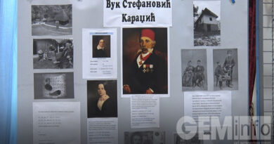 U lazarevačkoj biblioteci otvorena izložba posvećena Vuku Karadžiću