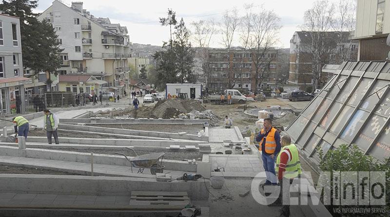 Rekonstrukcija trga u Lazarevcu