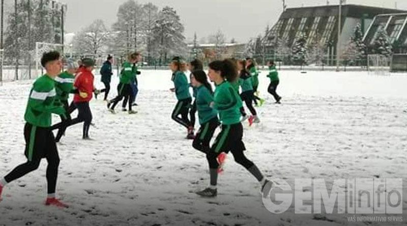Trening fudbalerki Kolubare