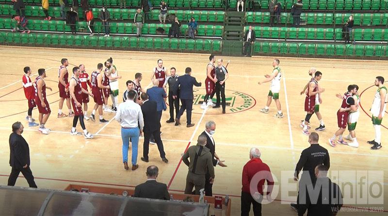 Kraj utakmice Kolubara - Pirot