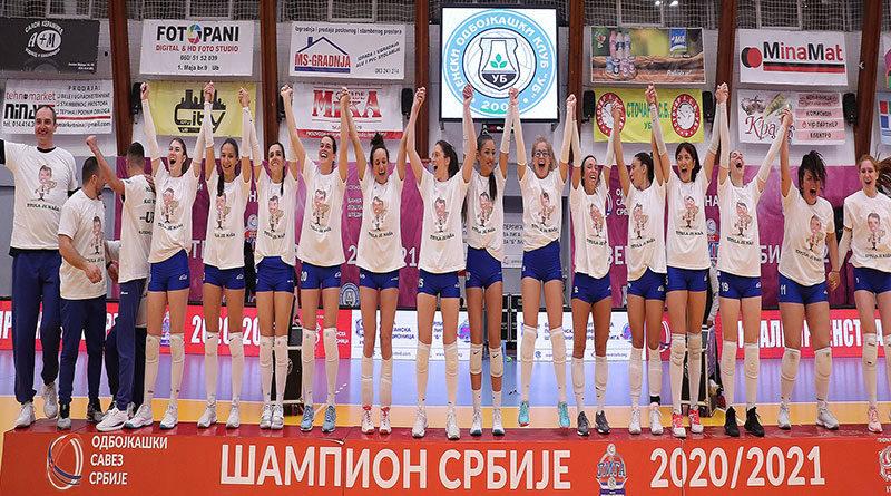 Prvi put u istoriji odbojkašice Uba postale šampionke Srbije