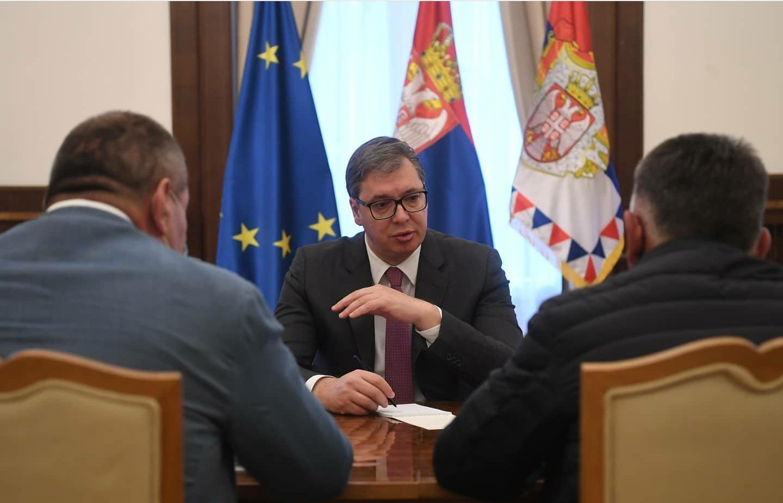 Sastanak Vučića sa Grčićem i Rankovićem