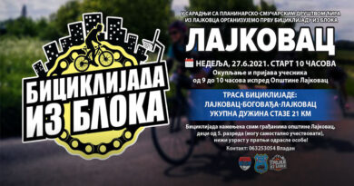 """""""Biciklijada iz bloka"""" u nedelju 27. juna"""