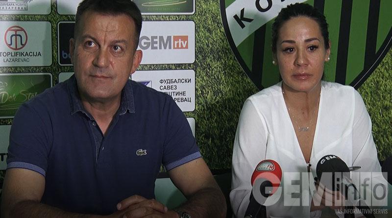 Dragan Radojičić, trener i Ana Stašević PR Kolubare