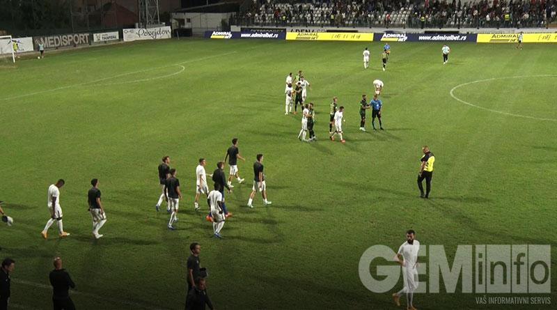 Kraj utakmice Kolubara - Partizan