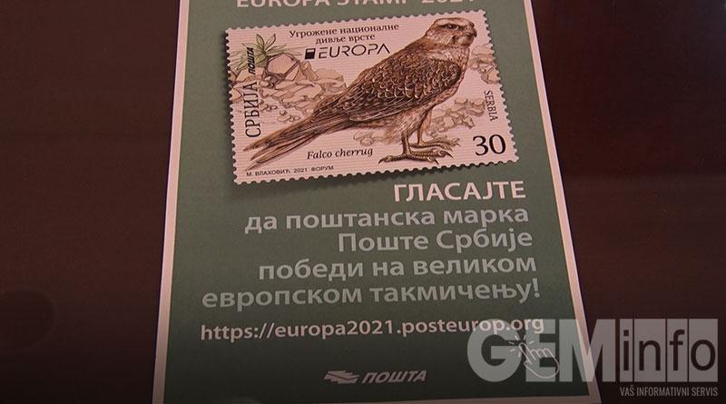 Poštanska marka stepski soko