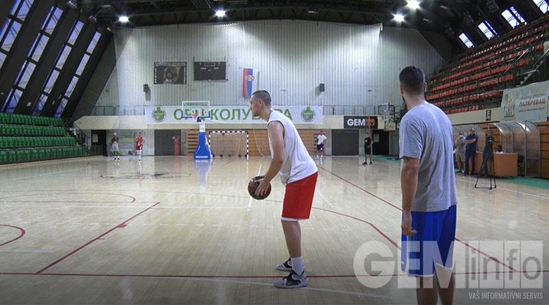 Trening košarkaša Kolubare