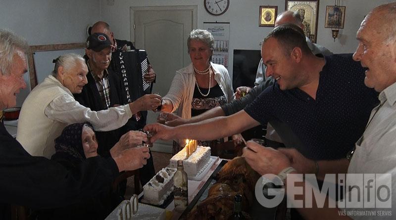 Proslava stotog rođendana baka Mileve